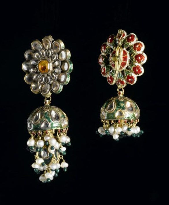 Earrings belonging to Maharaja Duleep Singh