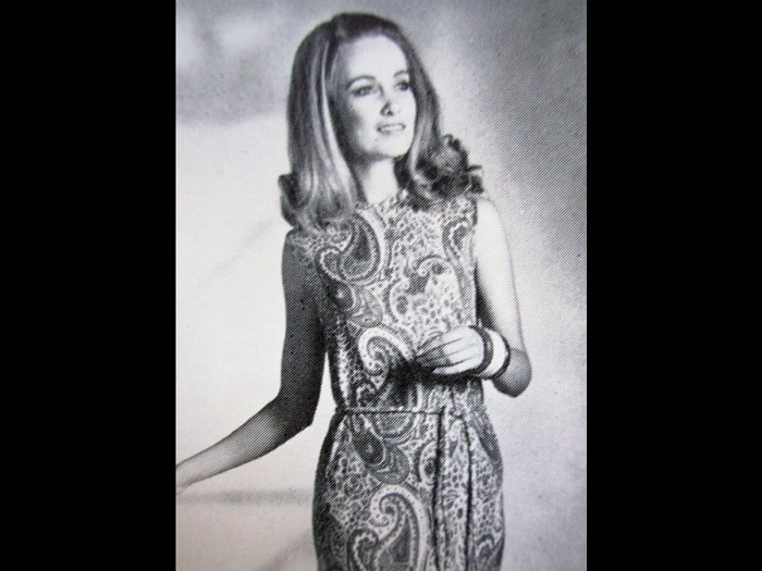 Pringle Paisleys, 'Farah' printed cashmere dress, 1969.