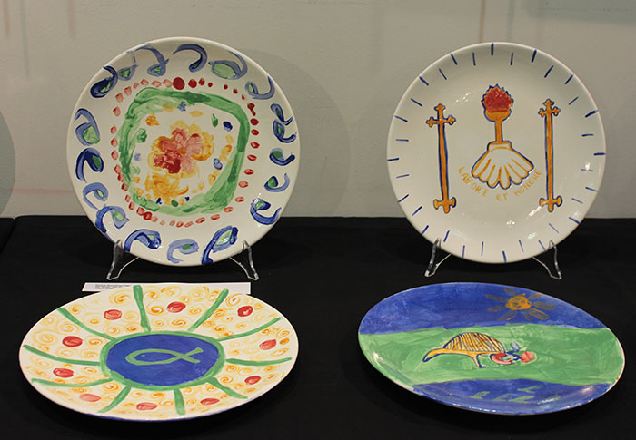 Plates created by the families