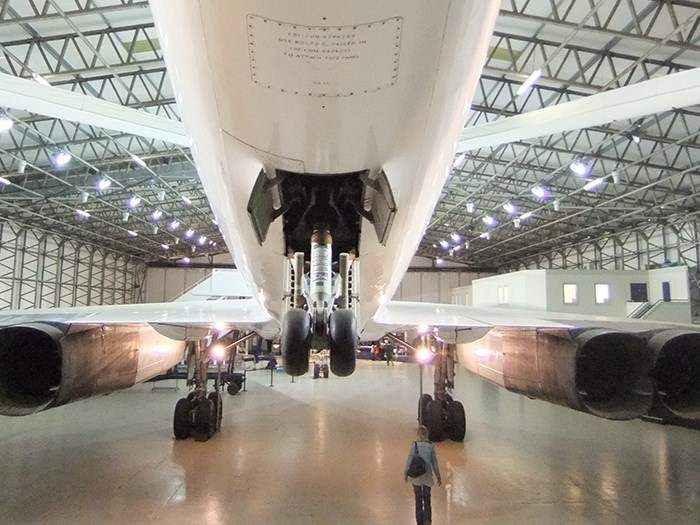 Take a closer look at Concorde's undercarriage.