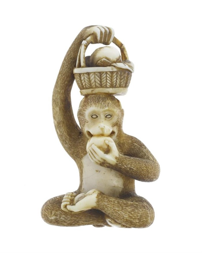 Netsuke in the shape of a monkey