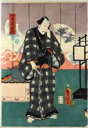 An actor in the role of Tsuchiya Jiemon, colour woodblock print by Utagawa Kunisada, 1860