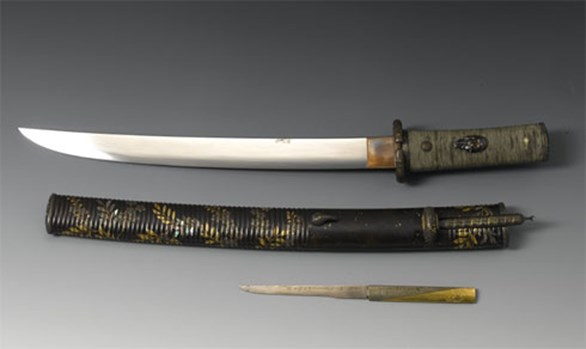 Samurai sword and tanto dagger