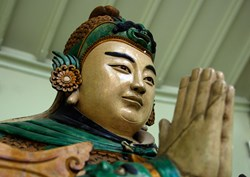 A Japanese statue