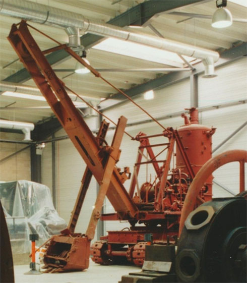 The Ruston excavator in the National Museums Collection Centre