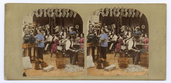Stereocard entitled 'The Making of Stereographs'