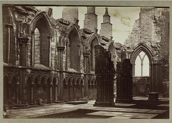 Albumen print of ruined abbey