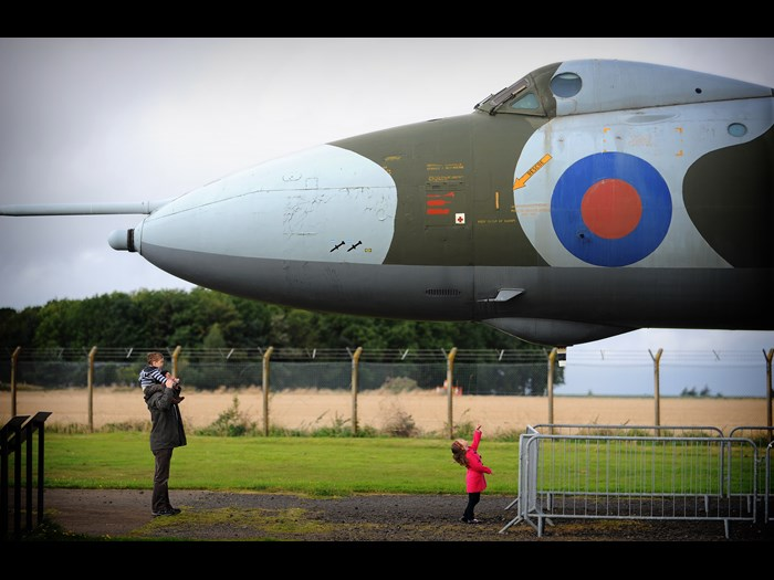 Nose of Avro Vulcan XM597 at National Museum of Flight, East Fortune Airfield.