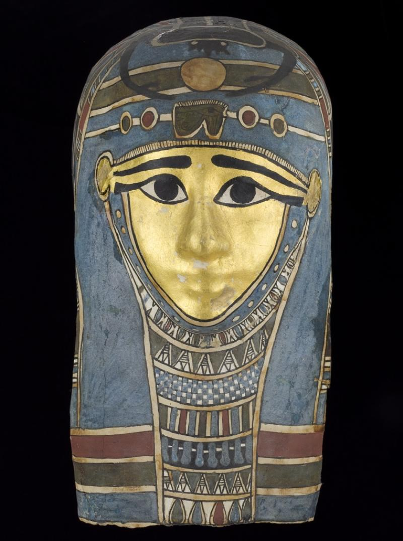 Mummy mask of an unidentified person