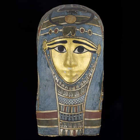 Mummy mask of an unknown person