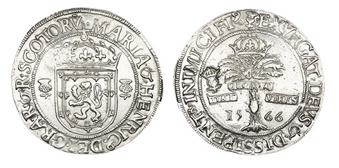 Silver ryal dating from 1566