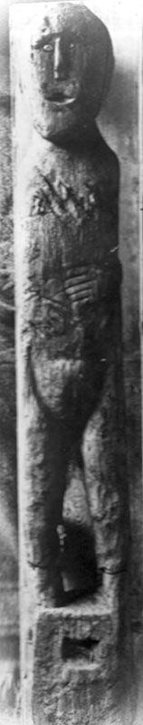 The Ballachulish figure when it was first discovered