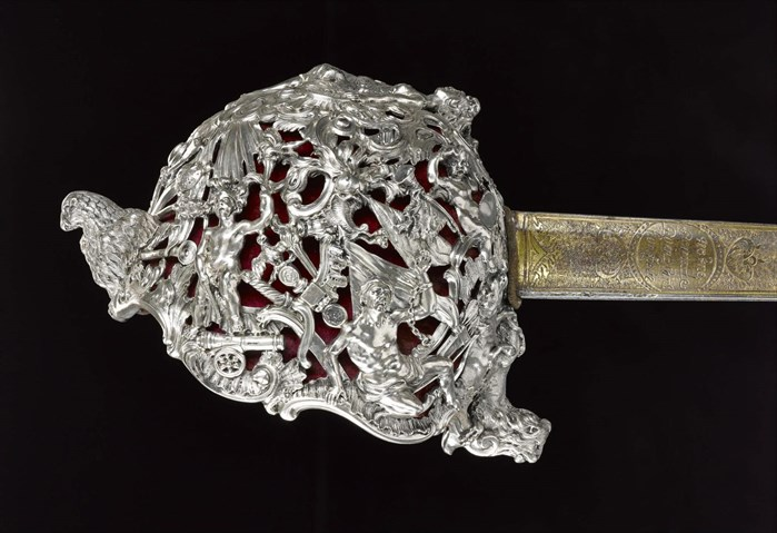 Hilt of a backsword presented to Bonnie Prince Charlie