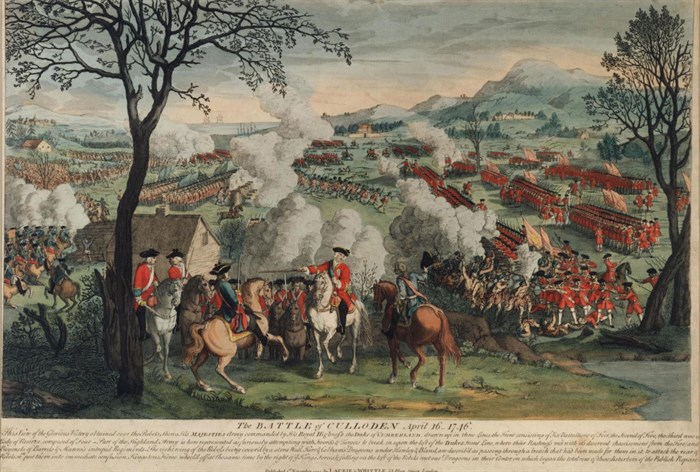 Print depicting the Battle of Culloden