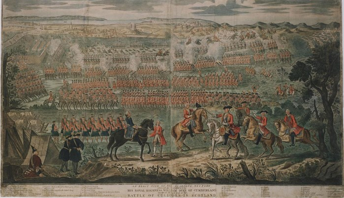 Woodcut depicting the Battle of Culloden