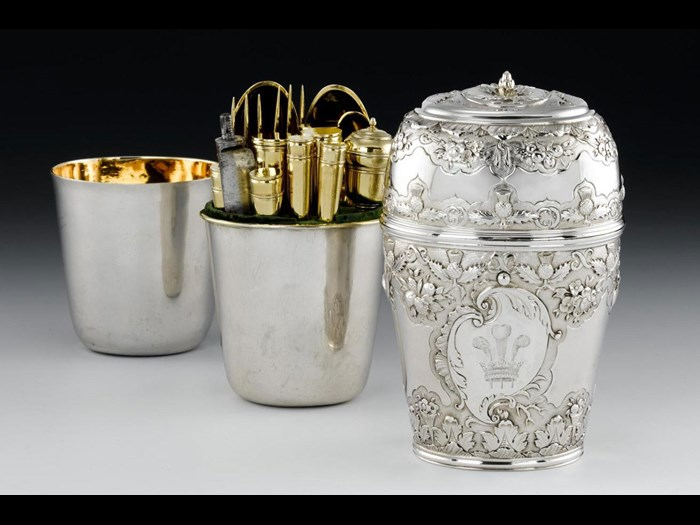 Bonnie Prince Charlie brought this elaborate set of travelling cutlery and two wine beakers with him to Scotland in 1745.