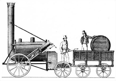 Contemporary drawing of the Rocket