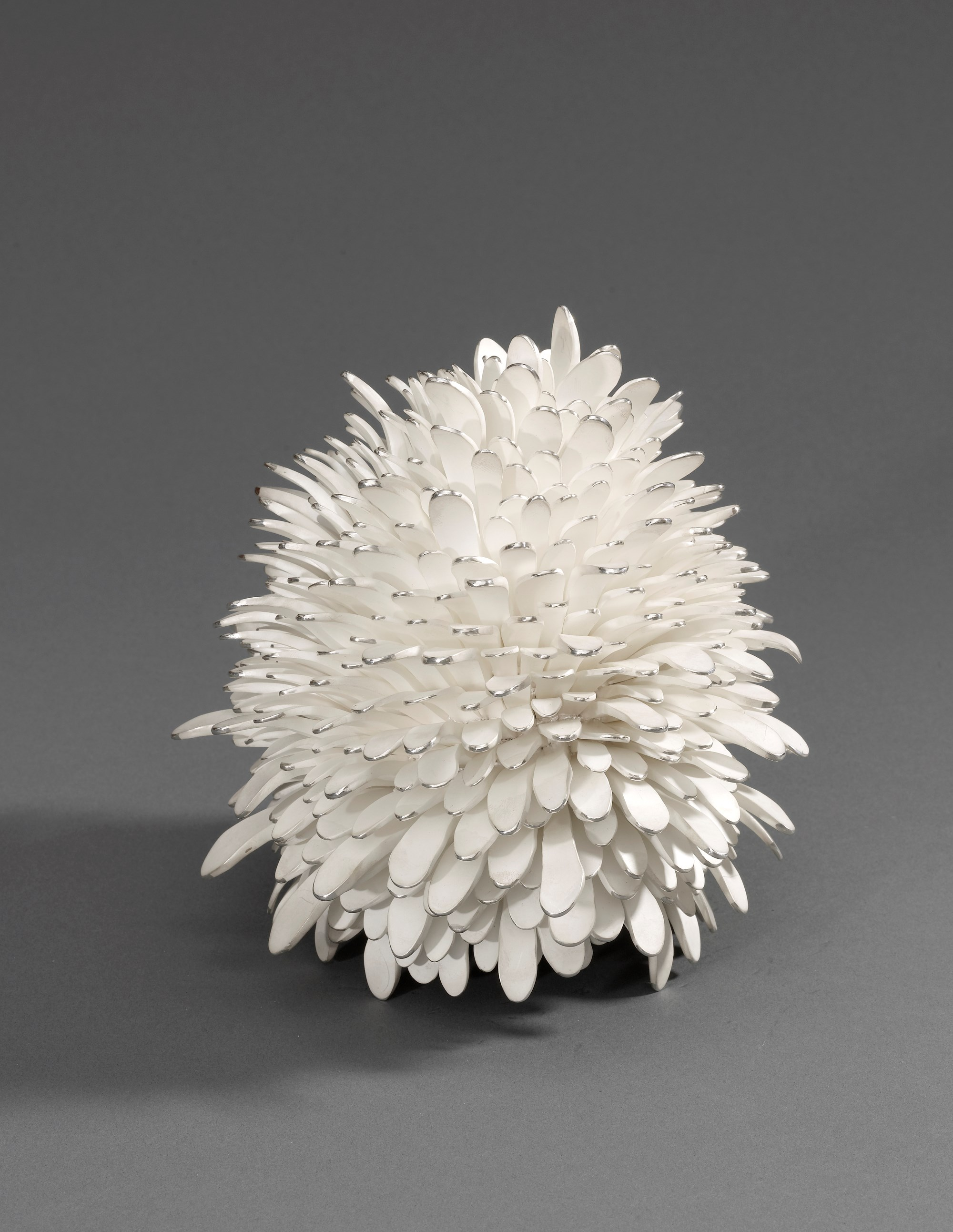 'Pine Cone', 2007, Junko Mori. Measurements: Height 16cm Width 17cm. Image © The Goldsmiths' Company. Courtesy 'Collection: The Worshipful Company of Goldsmiths'. '