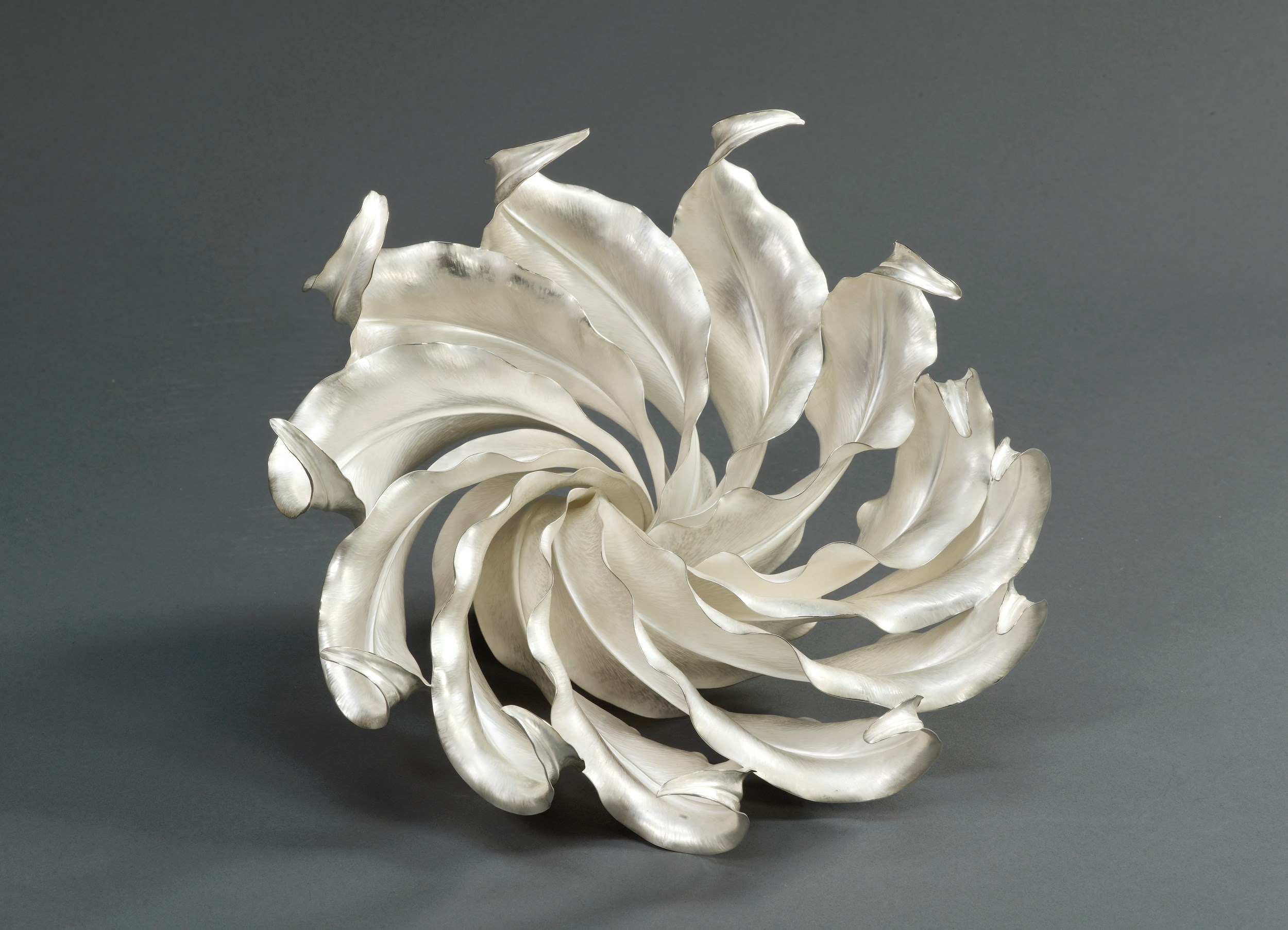 'Spiritus' centrepiece, 2010, Theresa Nguyen. Measurements: Height 19.5cm Width 26.5cm Diameter 24cm. Image © The Goldsmiths Company. Courtesy 'Collection: The Worshipful Company of Goldsmiths'. '
