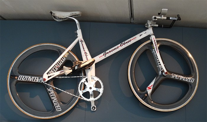 Graeme Obree's home made bicycle Old Faithful