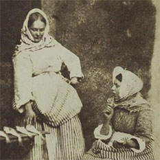 Salt print of Newhaven fishwives by Hill and Adamson