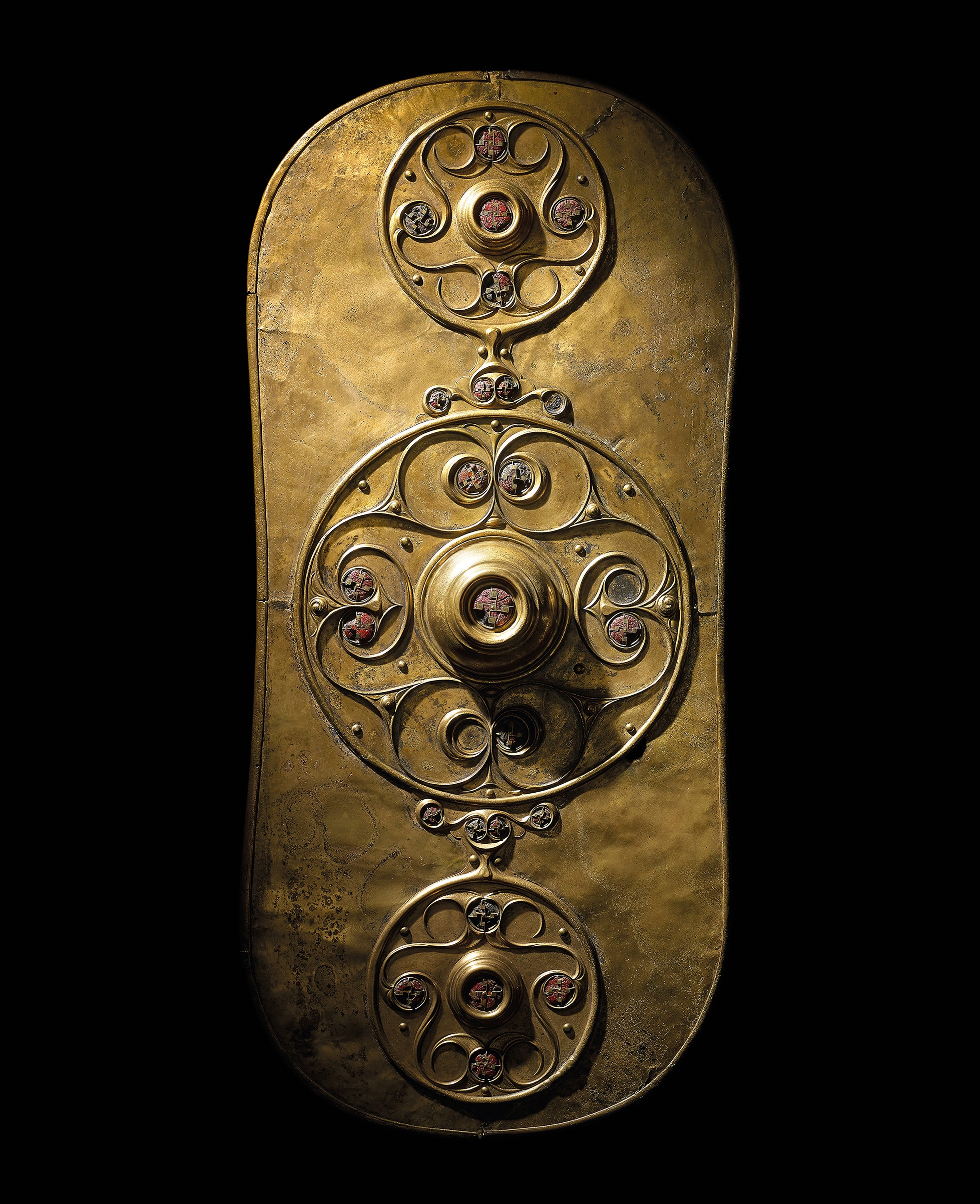 The Battersea shield. Iron Age, c. 350–50 BC. Found in the River Thames, London, England. © The Trustees of the British Museum.
