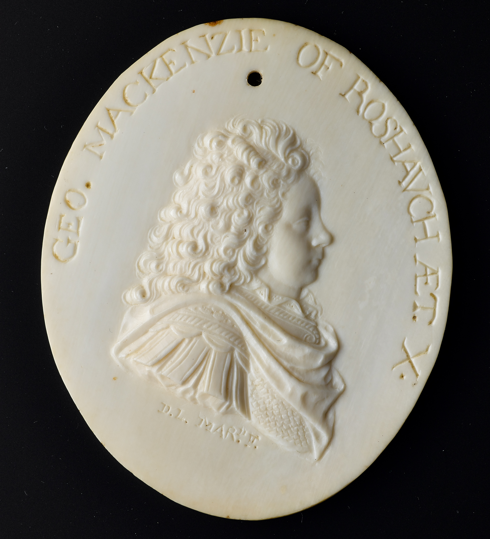 Relief plaque of George Mackenzie of Rosehaugh (1686-1707)