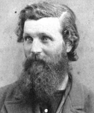 John Muir in 1872, aged 34. Photo by Bradley and Rulofson; original source Holt-Atherton Library, University of the Pacific, Stockton, CA.