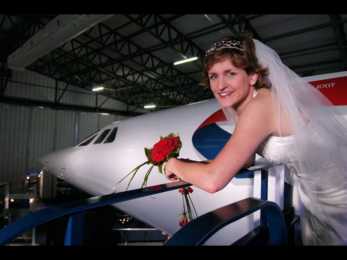 Wedding at the National Museum of Flight
