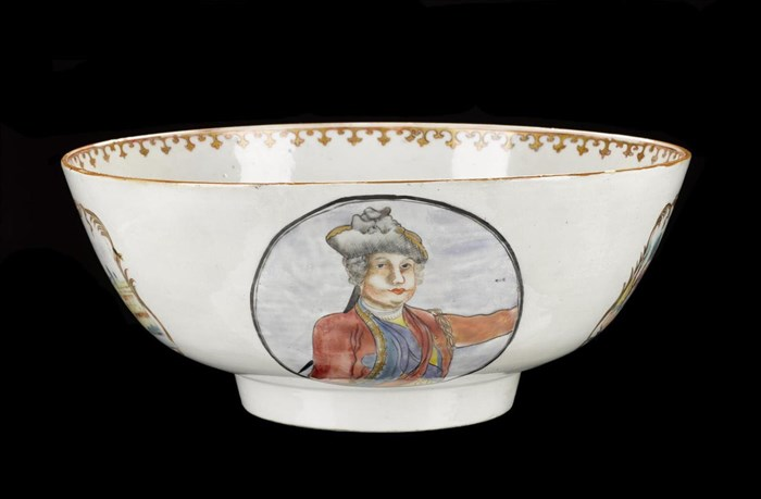Jacobite punch bowl