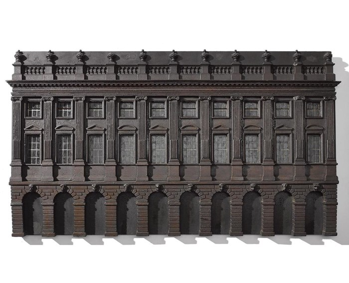 Architectural model of a well-proportioned ten bay and arcaded three storey facade, said to be an architect's model for the Glasgow town house: Scottish, attributed to Alan Dreghorn, c. 1756.