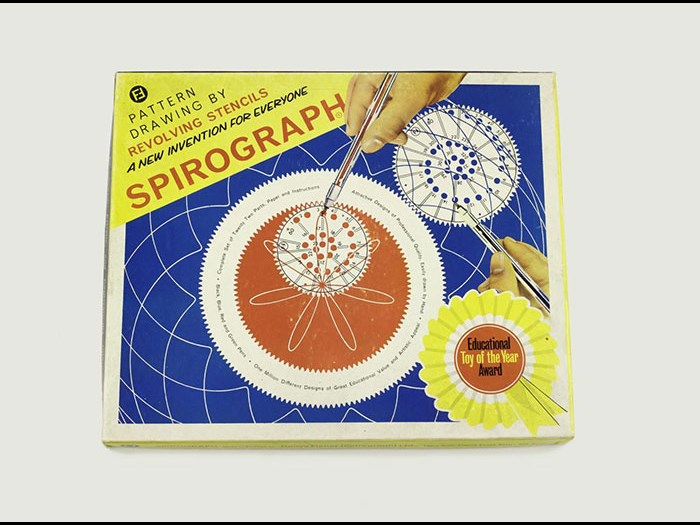Original Spirograph in box, complete with instruction booklet, paper pack and example drawings, by Denys Fisher (Spirograph) Ltd, England, 1960s.