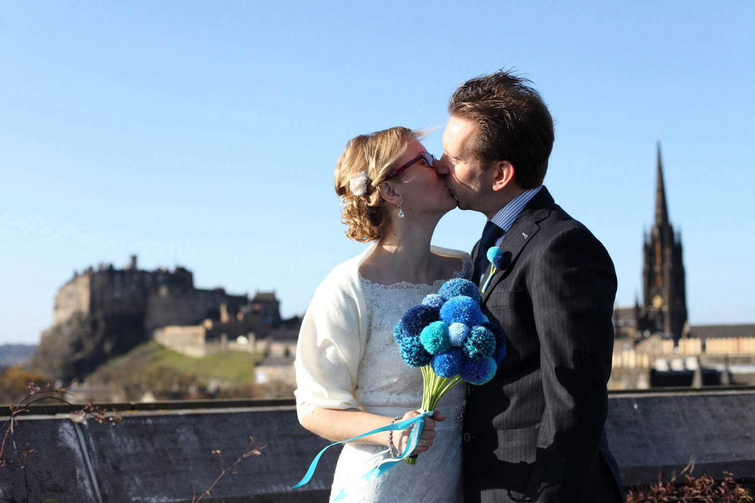 Wedding photographs on the roof terrace