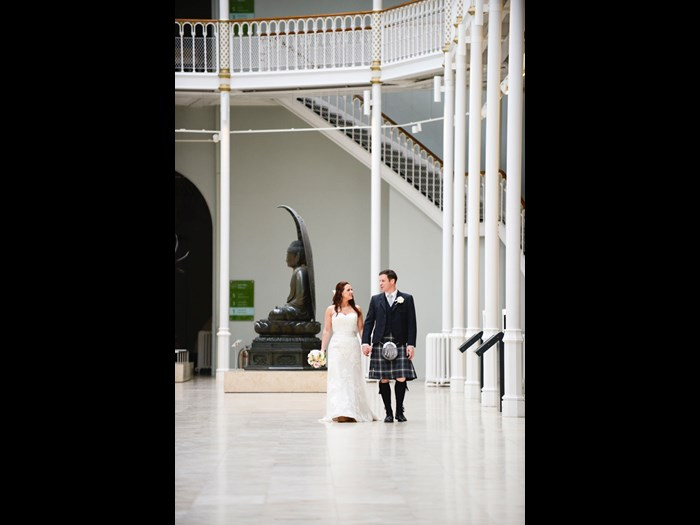 Wedding in the Grand Gallery at the National Museum of Scotland