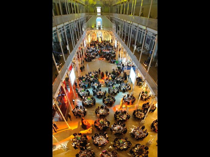 Large dinner in the Grand Gallery