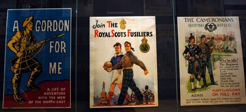 Recruitment posters in the National War Museum